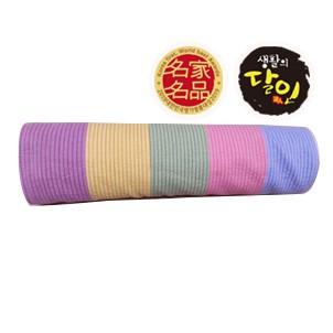 편백나무 큐브칩 색동베개